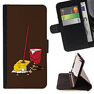 DEVIL CASE - FOR Samsung Galaxy S3 Mini I8190Samsung Galaxy S3 Mini I8190 - Funny Dead Sponge bb Cartoon - Style PU Leather Case Wallet Flip Stand Flap Closure Cover