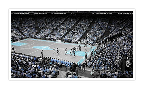 - North Carolina - College Basketball Touch of Color - 30x16 Matte Poster Print Wall Art ToC