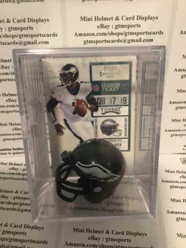 - Michael Vick Philadelphia Eagles Mini Helmet Card Display Case Shadowbox Auto QB Shadowbox Autograph