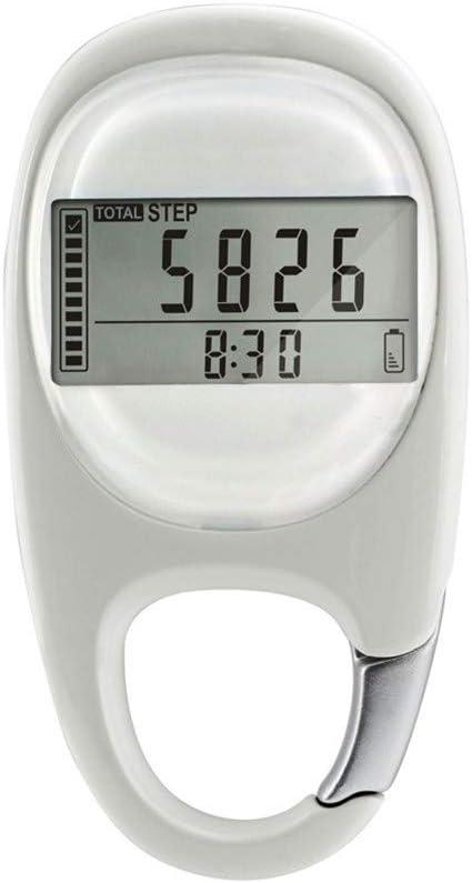 3 x Silver Pedometer Step Counter With Belt Pocket Clip Walker Walking Meter
