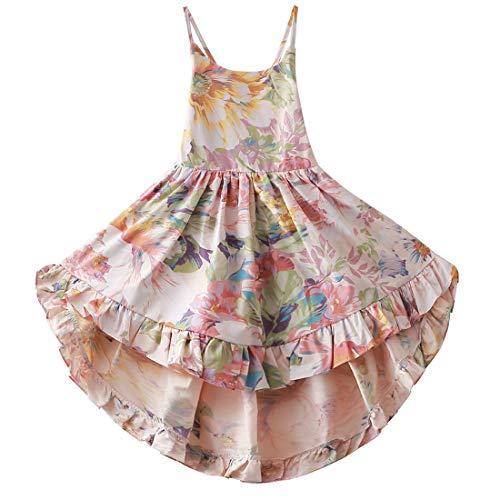 Girls Dress Summer Dresses Girl Floral Dress Girl Party Dress 2T Casual Dress Toddler Flower Dress Toddler Girl Floral Dress 2T Dresses for Girls Fancy Dresses for Kids Size 2 (A4Floral,90)]()