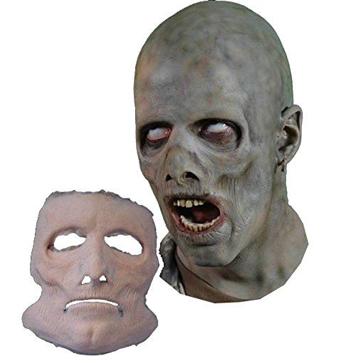 Foam Latex Mask Prosthetic (Jerky Undead FX Mask Foam Latex Prosthetic Professional Grade Theater)
