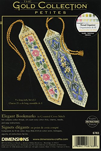 Gold Collection Bookmarks Counted Cross Stitch Kit-9 Long 14 Count Set Of (Gold Collection Bookmarks)