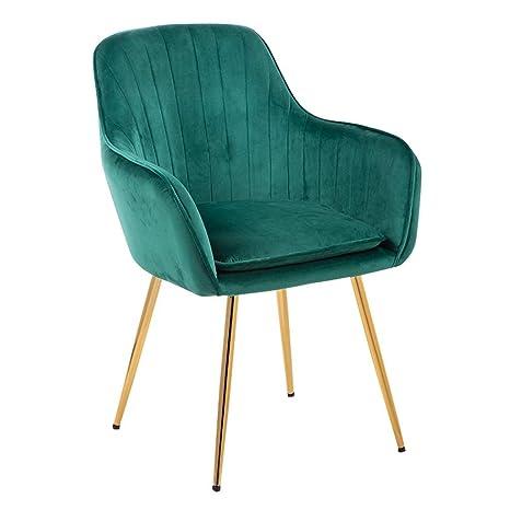 Amazon.com: Silla de salón sofá estilo europeo dorado ...