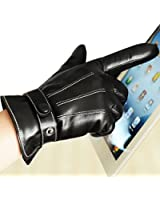 Best Mens Leather Gloves Made of Australia Lambskin,(Spring and Autumn or Winter Cashmere Lining or Fleece linling)-Driving/work/motorcycle Riding/cycling