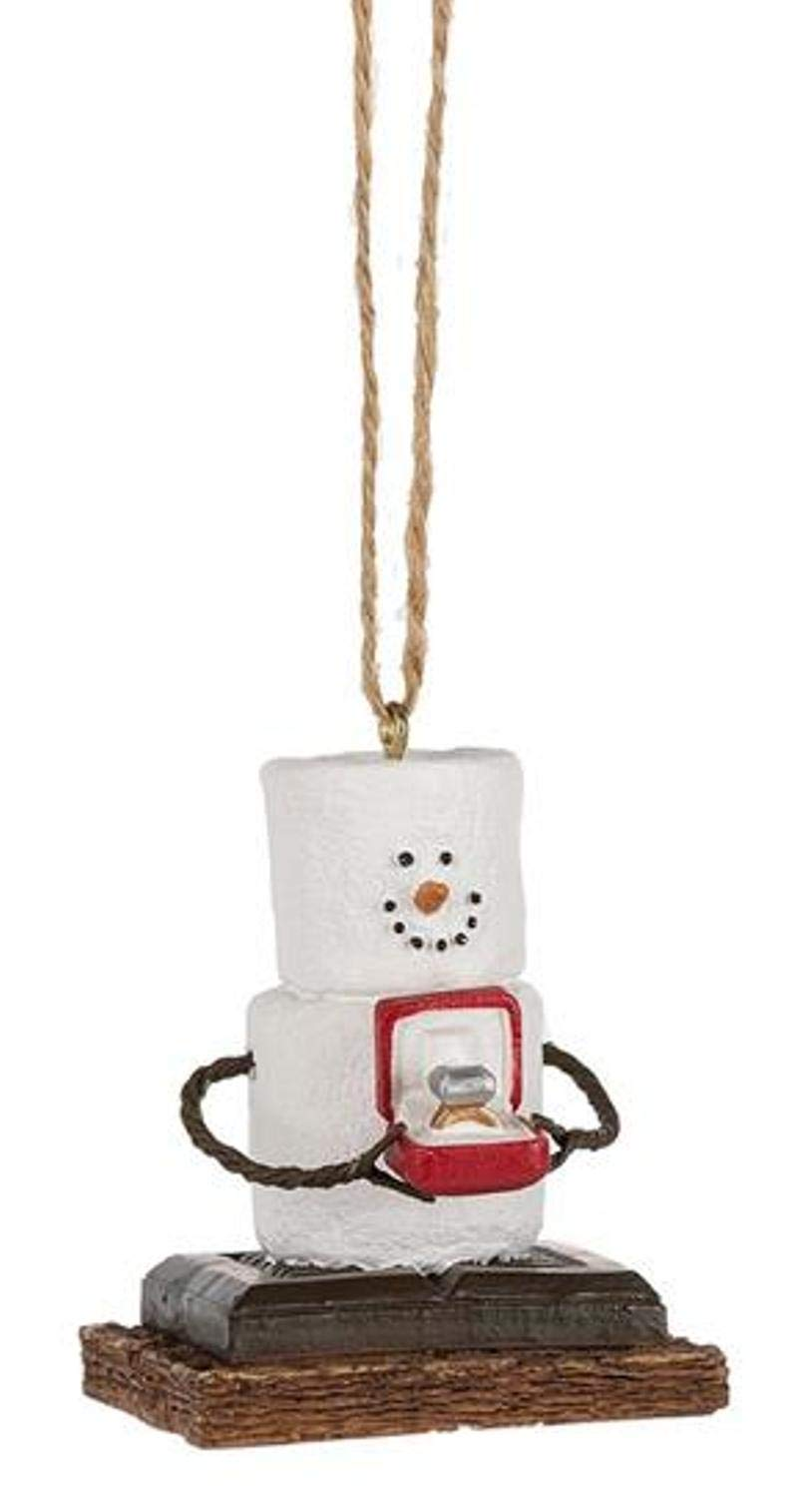 S'mores Man presenting an engagement ring Christmas/Everyday Ornament