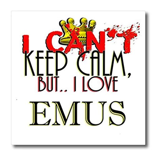 3D Rose I Cant Keep Calm - Emus Iron On Heat Transfer 8 x 8 White