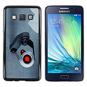 TopCaseStore / la caja del caucho duro de la cubierta de protección de la piel - Spy Camera Webcam - Samsung Galaxy A3 SM-A300