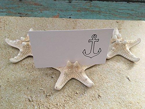 Starfish Beach Wedding Placement Card Holders, 20