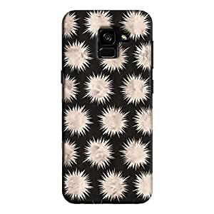 Cover It Up - Silver Star Black Galaxy A7 2018 Hard Case