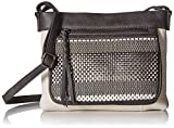 The Sak The Sanibel Mini Crossbody-Woven, Slate Metallic
