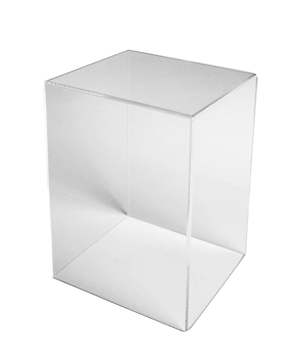 Acrylic Box Case | 5 Sided Display Box | Acrylic Cube 18Hx12Wx12D x 3/16'' thick by Choice Acrylic Displays