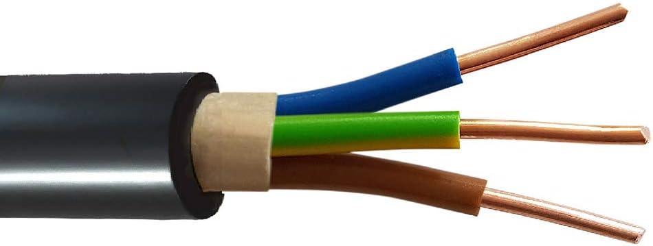 Erdreich Erdkabel Stromkabel 25m oder 50m NYY-J 3x2,5 mm/² Elektrokabel Ring zur Verlegung im Freien 25m