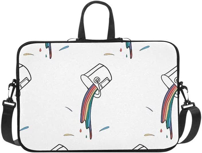 Laptop Sleeve Can Paint Minimal Line Waterproof Laptop Shoulder Messenger Bag Pouch Bag Case Tote with Handle Fits 14 Inch Netbook//Laptop