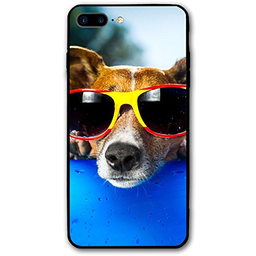 Cool Dog Sunglasses Iphone8 Plus Case Mobile Phone Protection Shell Unique Design Anti-skid Function Slim Fit Iphone8 Plus 5.5 Inch - Best Sunglasses Website