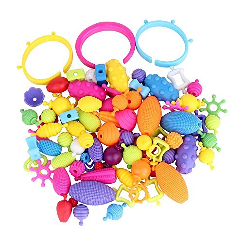 Girls Beads Toy 85 parts No Need String Plastic Beads Toys N