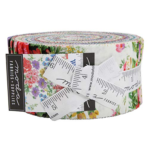 Moda Wildflowers IX Jelly Roll 2.5-inch Quilting Strips Fabric ()