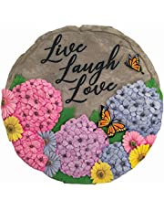Spoontiques 13238 Live Laugh Love Stepping Stones, Multicolored Beige