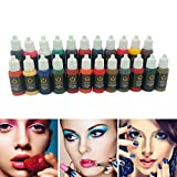 10pcs Permanent Microblading Makeup Tattoo Ink Set 23 Colors Tattoo Pigment Kit for Cosmetic PMU Rotary Eyebrow Lip Makeup