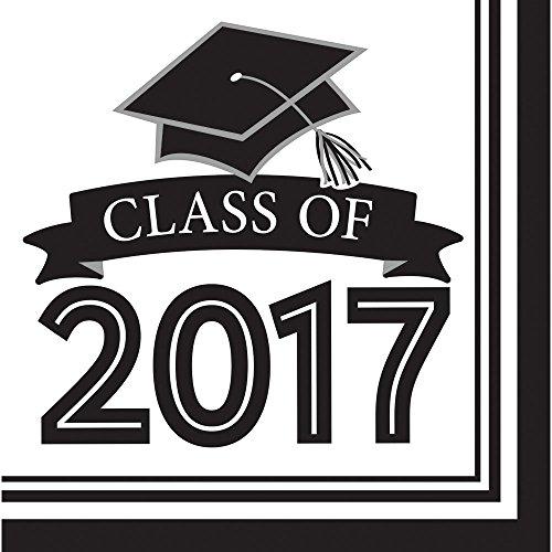 Class of 2017 Congrats Grad White Luncheon Napkins (36 ct)
