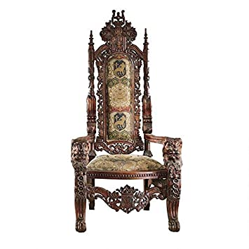 Brilliant Design Toscano The Lord Raffles Lion Throne Fabric Arm Chair Beutiful Home Inspiration Ommitmahrainfo