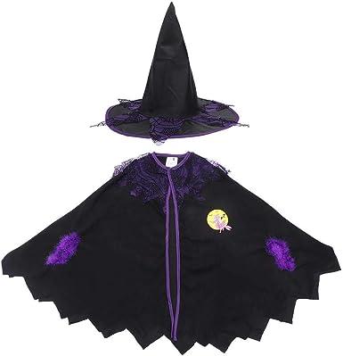 Hztyyier Disfraz de Bruja para niños Vestido de Halloween de ...
