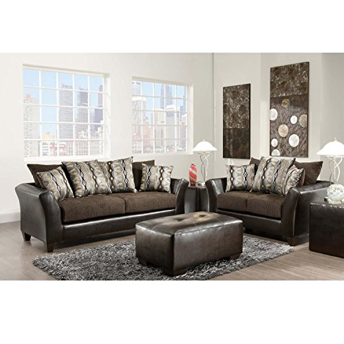 - Flash Furniture Riverstone Rip Sable Chenille Living Room Set