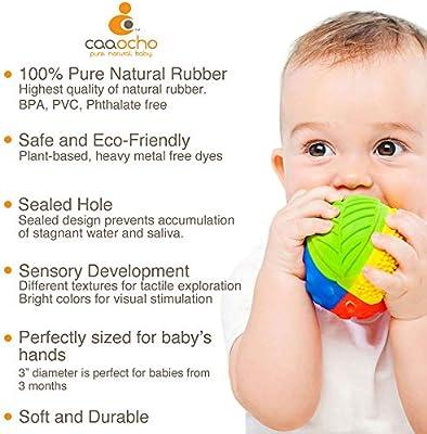 PVC Free Phthalates Natural Rubber Sensory Ball Rainbow BPA Food-grade paint