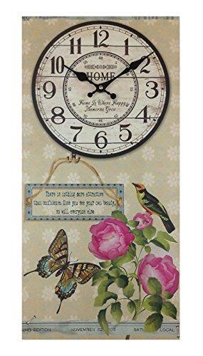 GMMH Reloj De Pared 60 x 30 cm Madera Reloj de cocina Antiguo Paris ...
