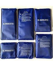 Koud-warm-pack in 3 maten 6 koelpacks - 10 x 10 cm + 10 x 15 cm + 10 x 20 cm - koelpack koelkussen koudekompres koelpad warmtekompres warmtekussen gelkompres