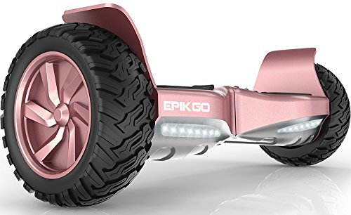 "EPIKGO Self Balancing Scooter Hover Self-Balance Board – UL2272 Certified, All-Terrain 8.5"" Alloy Wheel, 400W Dual-Motor, LG Battery, Board Hover Tough Road Condition [Classic Series, Rose Gold]"