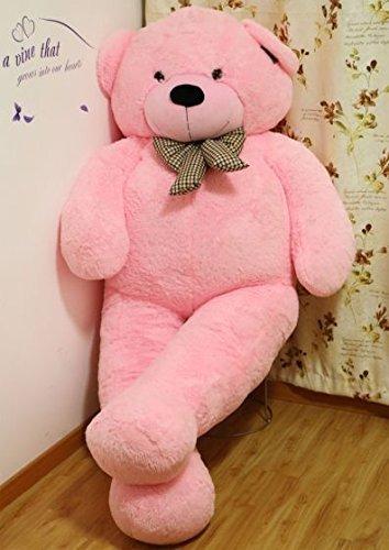 Hubano - Oso de peluche gigante, 200 cm, color marrón rosa rosa Talla:Extra Large: Amazon.es: Bebé