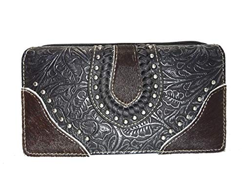 Trinity Ranch Leather Accent Secretary Wallet In Assorted Styles Choices