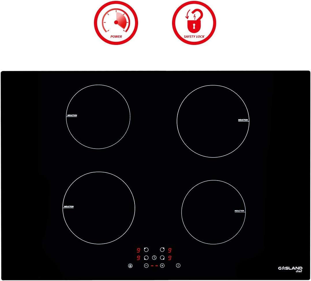 30'' Built-in Induction Cooktop, GASLAND Chef IH77BF 240V Electric Induction Hob