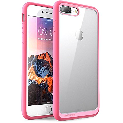 Clear Pink Case - SUPCASE Unicorn Beetle Style Case Designed for iPhone 7 Plus, iPhone 8 Plus Case, Premium Hybrid Protective Clear Case for Apple iPhone 7 Plus 2016 / iPhone 8 Plus 2017 (Pink)