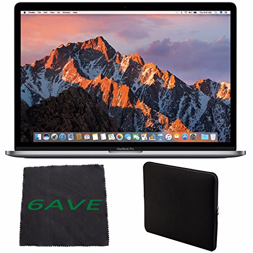 Price comparison product image Apple MacBook Pro MLH42LL/A 15.4-inch Laptop with Touch Bar (2.7GHz quad-core Intel Core i7, 512GB Retina Display), Space Gray + Padded Case For Macbook Bundle