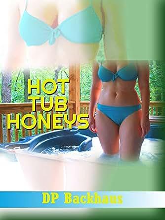 Tub Lesbian threesome hot