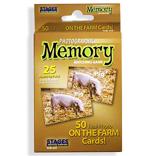 - Stages Learning Materials Picture Memory On The Farm Card Real Photo Concentration Game Memory Game