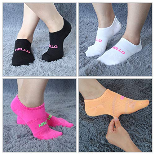 Womens Casual Athletic No Show Low Cut Socks 6 Pack women Mesh Breathable Anti-Slip Sole Invisiable Sports Socks by COOVAN (Image #5)