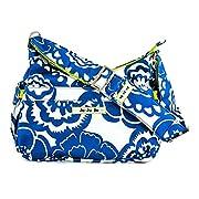 Ju-Ju-Be Classic Collection HoboBe Purse Diaper Bag, Cobalt Blossoms