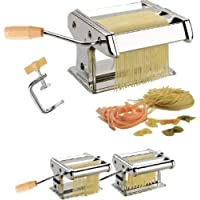 SAJANI 3 in 1 Stainless Steel Pasta Maker Noodles Cutter Roller Machine