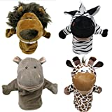 Live Toys Educational Hand Puppets - 4-piece Safari Collection, with Movable Mouths, Easily Wearable for Adults and Children. Perfect for Storytelling and Imaginative Play. By