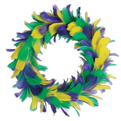 - Beistle 57903-GGP Feather Wreath, 12-Inch