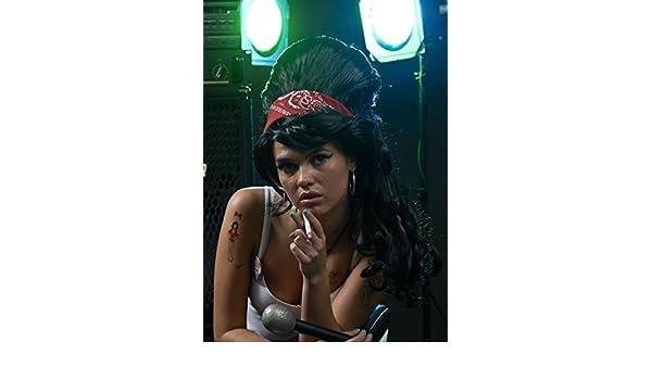 Bandana y peluca de lujo estilo de Amy Winehouse: Amazon.es: Juguetes y juegos