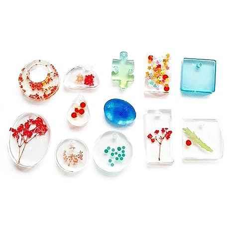 Soulitem 11 unids DIY Colgante de Silicona Transparente joyería de fabricación de moldes Herramientas de Silicona