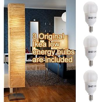 Ikea Orgel Vreten Floor Lamp With 3 Original Ikea Sparsam Low Energy Bulbs Amazon Com