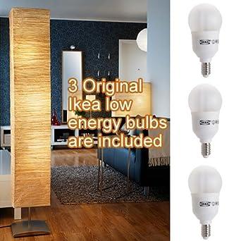 Ikea Orgel Vreten Floor Lamp with 3 Original Ikea Sparsam Low Energy ...