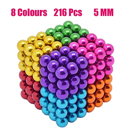 - Coolpay 8 Colors 216 Pcs 5MM Magnets DIY Toys Magnetic Fidget Blocks Building Blocks for Development of Intelligence Learning and Stress Relief Gift for Adults or Kids