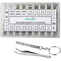 bayite Eyeglass Sunglass Repair Kit with Screws Tweezers...
