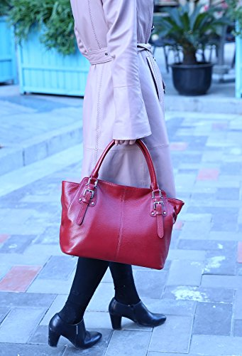 Top body Heshe Shoulder Bag Fashion Leather Womens Tote Purse Bags Handle Wine Hobo Handbags Ladies Designer Bag Cross IUZUAwS